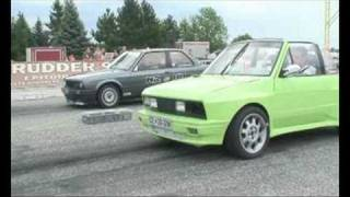 BMW E30 (M5) vs. Yugo Cabrio Turbo