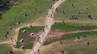 video: Coronavirus: can sunbathing spread the virus and should we ban outdoor exercise?