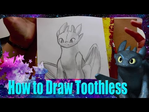 How to Draw Toothless for How to Train Your Pet Dragon