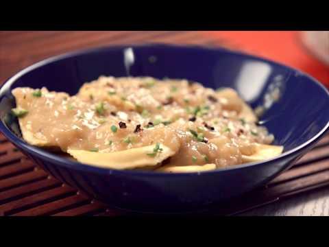 Cocina con Gastroideas - Ravioli rellenos de cremoso de espárragos