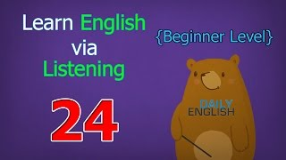 Learn English via Listening Beginner Level | Lesson 24 | Weather