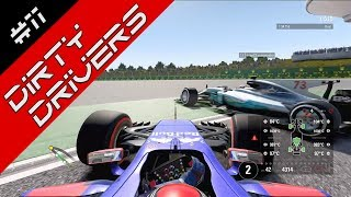 Dirty Drivers & Awesome Overtakes! F1 2017 #11