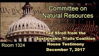 Sustainable Trails Coalition's Testimony to Congress Regarding Bikes in Wilderness