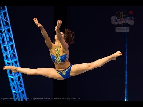 Anna Chigarina – RUSSIA - 3rd Place FEMALE SINGLES - World Pole Dance Championships - Beijing, China