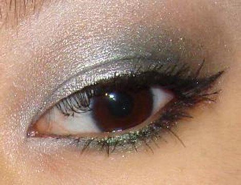Holiday Silver Smokey Green Eye Makeup Tutorial - YouTube