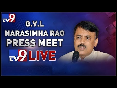 BJP leader GVL Narasimha Rao Press Meet LIVE || Vijayawada  - TV9