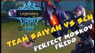 TEAM SAIYAN VS sCn | FREDO PLAYS A PERFECT MOSKOV (Mobile Legends)