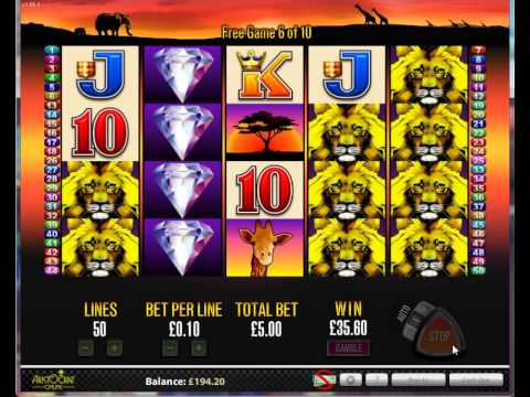 aristocrat 50 lions online pokies slots. play free or real