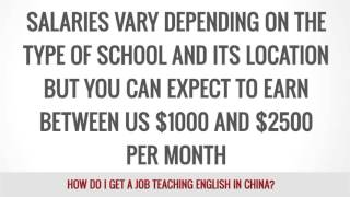 How do i get a job in China ?