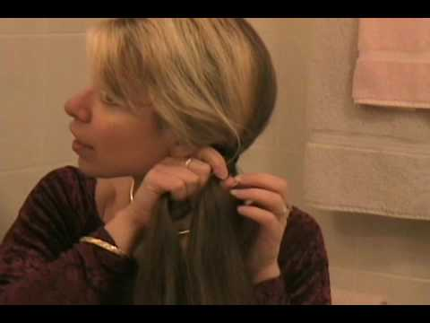 Keywords: long, hair, fishtail, french, braid, instructions, tutorial,