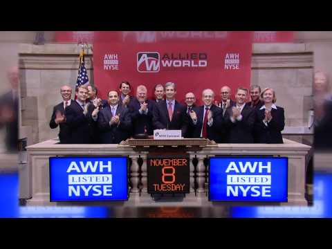 8 November 2011 Allied World Assurance Company rings the NYSE Opening Bell