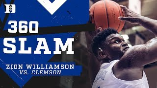 ZION WILLIAMSON 360 SLAM FROM EVERY ANGLE