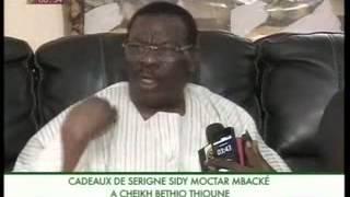 Cadeaux de Serigne Sidy Moctar Mbacké à Cheikh Béthio Thioune