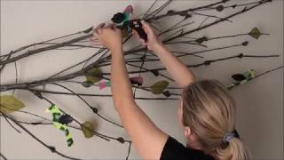 DIY Tree Branch Upcycled Wall Art Decor