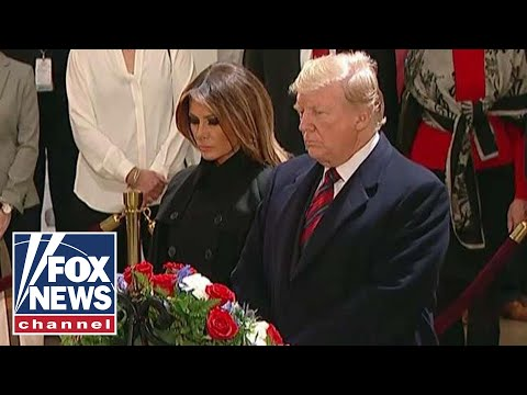 Trump, first lady pay respects to George H.W. Bush