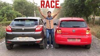 Drag Race : Baleno Vs Polo 🔥| Shocking Winner - Volkswagen Ki Asliyat 😈