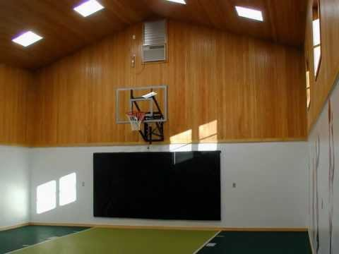 Indoor Basketball Court. Private Indoor Basketball