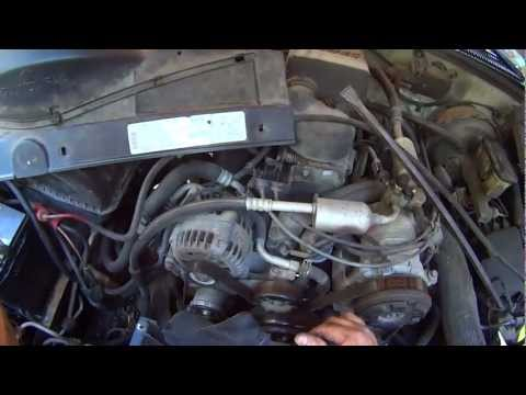 How to change a Chevy G.M. Truck Water pump and Radiator
