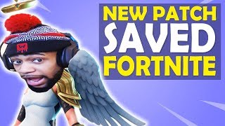 THIS NEW PATCH SAVED FORTNITE... HIGH KILL FUNNY GAME - (Fortnite Battle Royale)