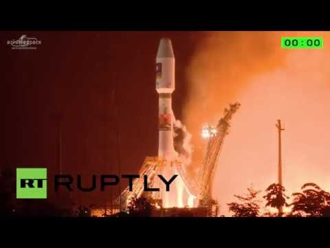 French Guiana: Blastoff! Russian Soyuz rocket launches Galileo satellites into orbit