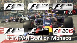 From F1 2010 to F1 2015 - Monaco (Wet)
