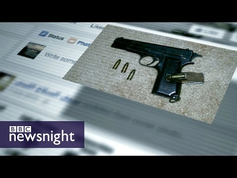 Weapons for sale on Facebook in Libya - BBC Newsnight