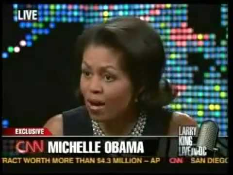 Michelle Obama on Larry King Live Video