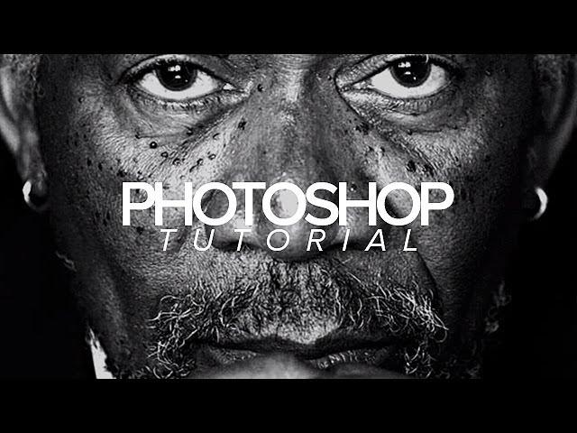 Tutorial | Photoshop | Dramatic Black & White Photo Effect