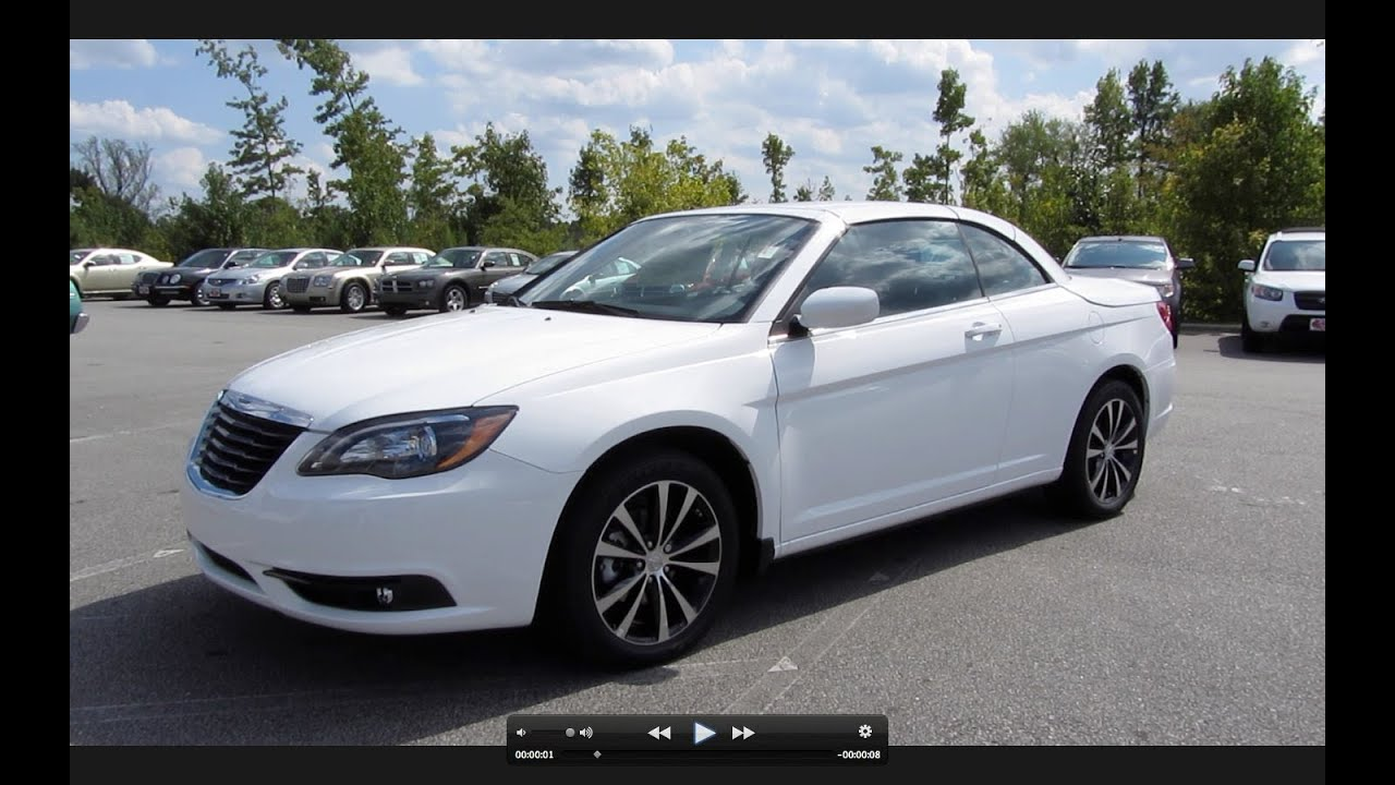 2011 Chrysler 200 S Convertible Start Up Exhaust And In