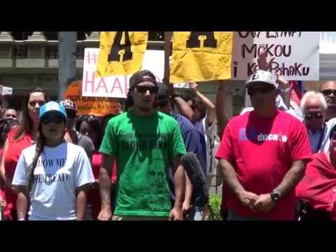Mauna Kea Press Conference 7-1-15