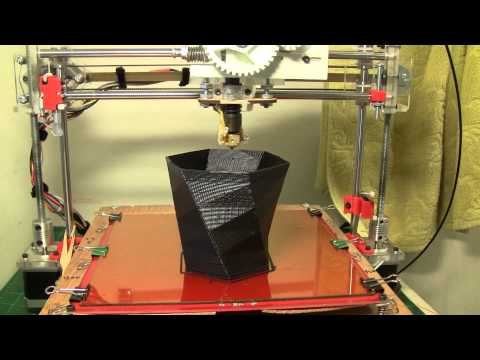 printing a vase with fus3d printer my home made 3d printer youtube. Black Bedroom Furniture Sets. Home Design Ideas