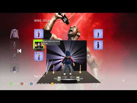 Wwe 2k14 Xbox Live Avatar Items video