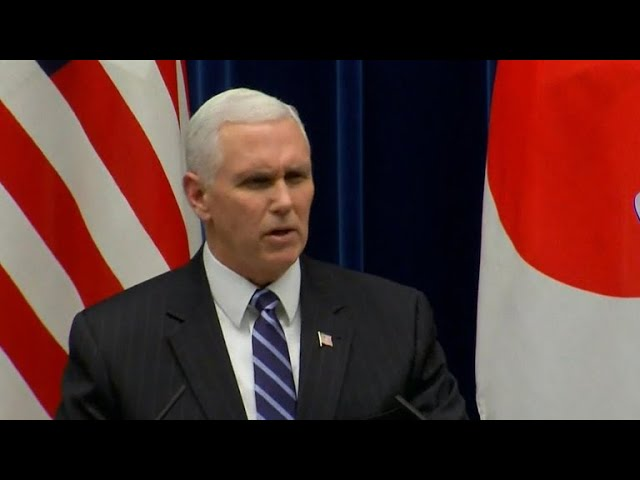 """Pence vows U.S. will hit North Korea with """"toughest"""" sanctions"""