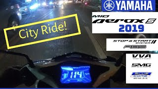 CITY RIDE WITH YAMAHA AEROX S 2019 MODEL (PERFORMANCE REVIEW/FUEL CONSUMPTION/STABILITY)