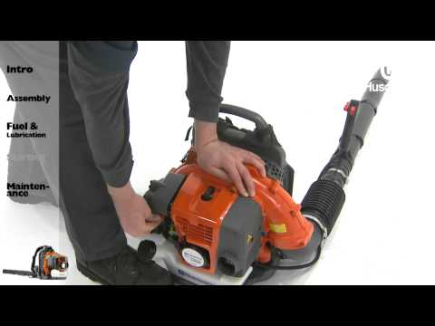 Husqvarna Backpack Blowers - Starting Instructions