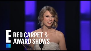 PCA 2010: Taylor Swift accepts the award for Favorite Female Artist   E! People's Choice Awards