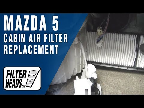 Cabin air filter replacement- Mazda5