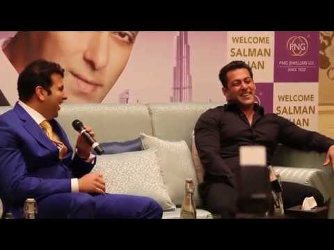 Salman Khan in splits of laughter at a Dubai press conference PNG jewellers