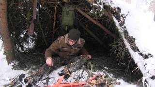 Winter Outing - Emergency Shelter In The Snow