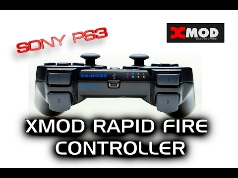 PS3 - XMOD Rapid Fire Modded Controller.GHOST.REVIEW.Advanced Warfare PlayStation 3 4 PS4 MOD CHIP