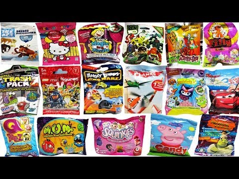 18 Surprise Blind Bags Lego Angry Birds Star Wars Moshi Monsters Disney Planes Cars Peppa Pig Ben 10