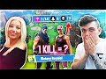 TEACHING MY GIRLFRIEND HOW TO PLAY FORTNITE: Battle Royale DUOS! (SHE WON) -