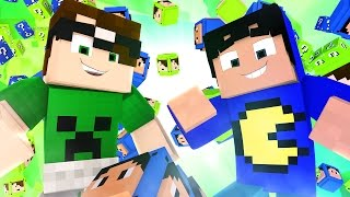 Minecraft: LUCKY BLOCK DO PAC E MIKE