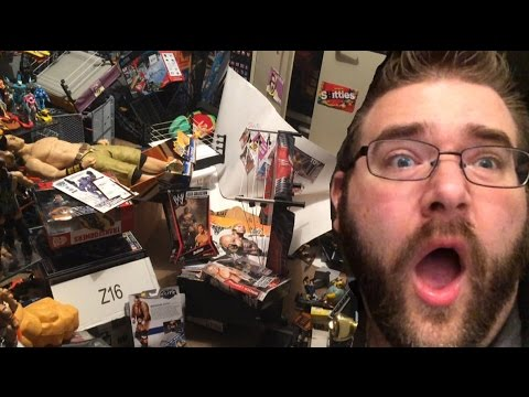 Toy Collection Room Trashed By Wife! Grim Reacts To Trashed Wwe Figures! video