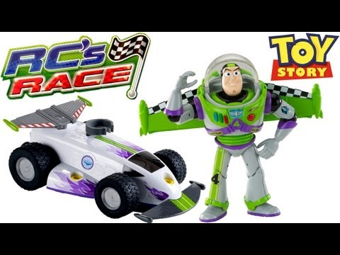 Buzz Lightyear with Turbo Wings racing cars RCs Race Toy Story 3 Review Disney Pixar Blucollection