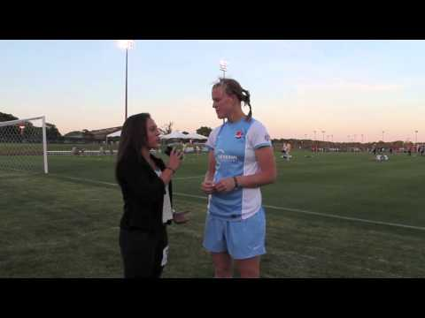Post game interview w/ CoCo Goodson Sky Blue FC Defender NWSL June 1, 2014