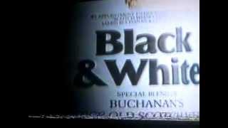"""Black & White"" scotch whisky advertisement"