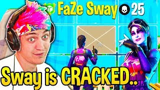 Ninja *SPECTATES* FaZe SWAY! Can't BELIEVE How FAST His 90s and EDITS are!