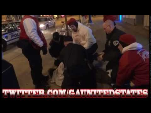 GUARDIAN ANGELS MADISON CHAPTER ARREST MAN FOR BATTERY AND WAS DETAINED BY PATROL 2/26/12