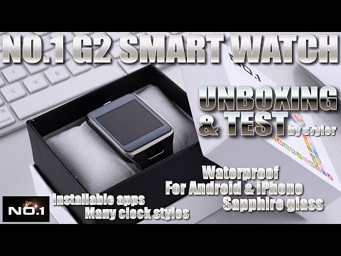 NO.1 G2 Smartwatch [REVEW & UNBOXING] Sapphire Glass, Waterproof - Samsung Galaxy Gear Clone?